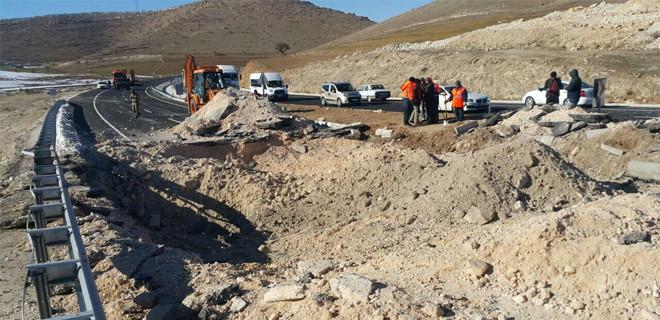 Mardin'de karayoluna tuzaklanan patlayıcı imha edildi