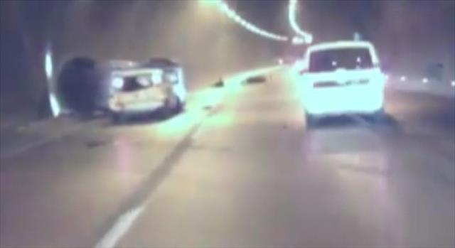 Tünelde dehşete düşüren kaza
