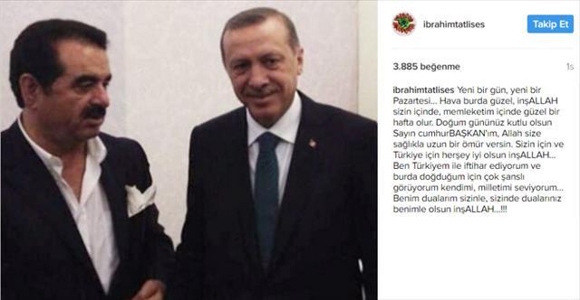Tatlıses'ten Erdoğan'a 'başkan'lı doğum günü mesajı