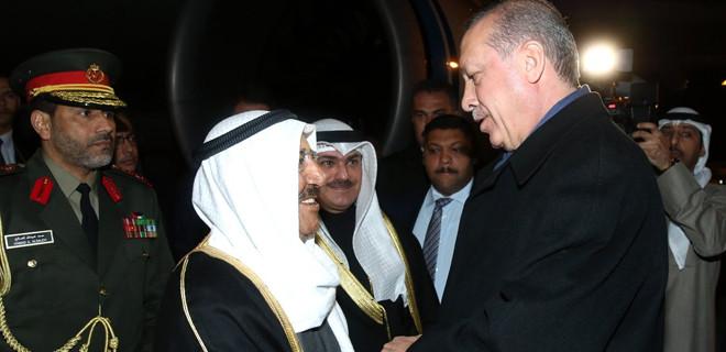 Cumhurbaşkanı Erdoğan'dan Kuveyt Emirine jest