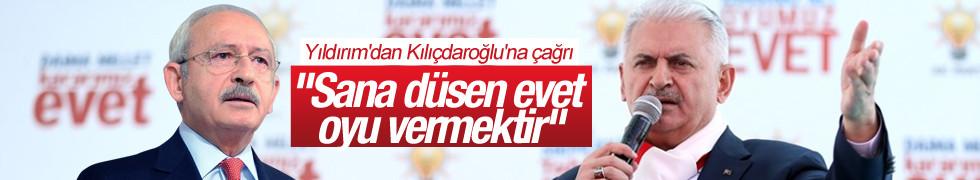 Yıldırım'dan Kılıçdaroğlu'na çağrı: Sana düşen evet oyu vermektir