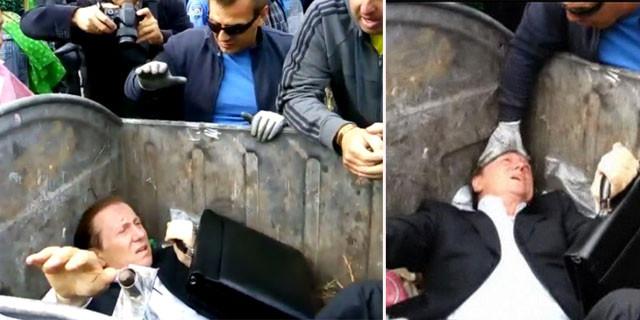 Milletvekilini çöpe attılar
