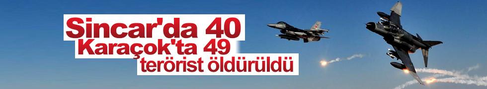 TSK'dan Sincar ve Karaçok açıklaması: Toplamda 89 terörist öldürüldü