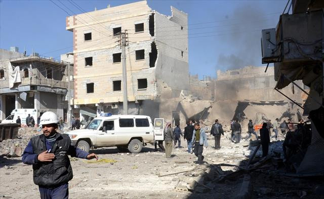 Halep'te fırına hava saldırısı