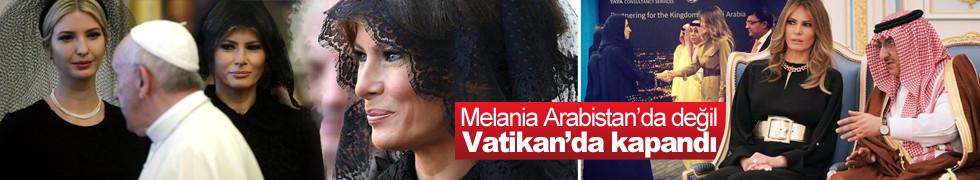 Melania Trump başını örttü