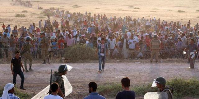 Sınıra yürüyenlere müdahale!