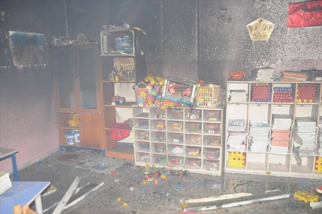 Okula molotofkokteylli saldırı