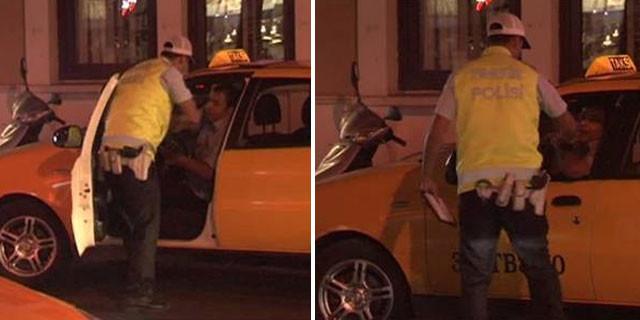 Taksi şoförüne polis dayağı