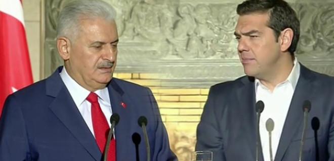 Başbakan Yıldırım'dan Çipras'a uyarı