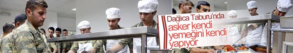 Dağlıca Taburu'nda asker kendi yemeğini kendi yapıyor