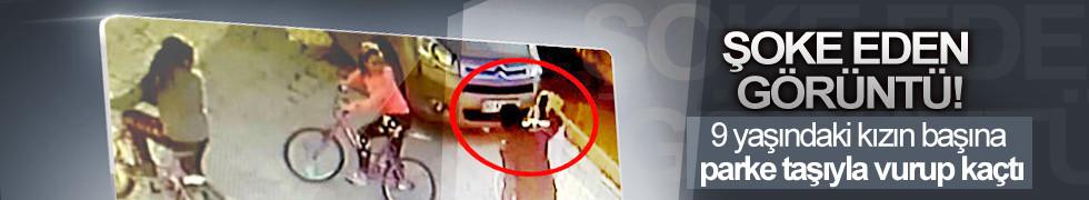 Parke taşıyla 9 yaşındaki kızın kafasına vurdu, serbest kaldı!