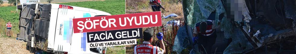 Balıkesir'de yolcu otobüsü devrildi: 47 yaralı