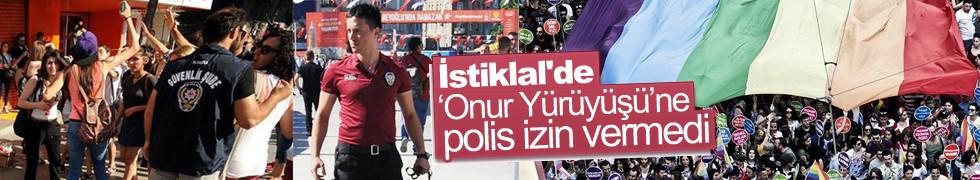 İstiklal'de Onur Yürüyüşüne polis izin vermedi