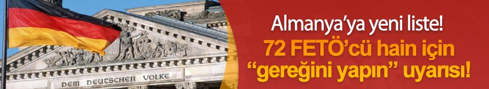 Türkiye'den Almanya'ya 72 kişilik yeni liste