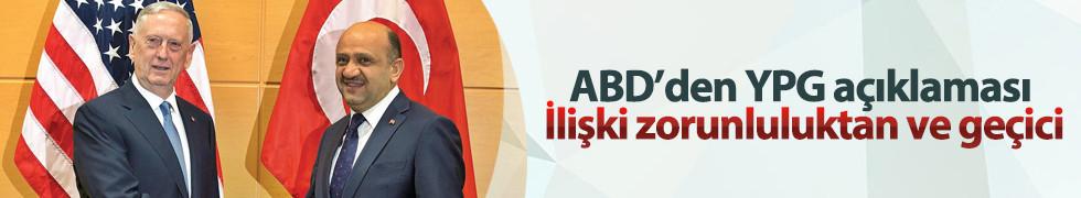 Türkiye'nin YPG rahatsızlığı ABD'ye iletildi