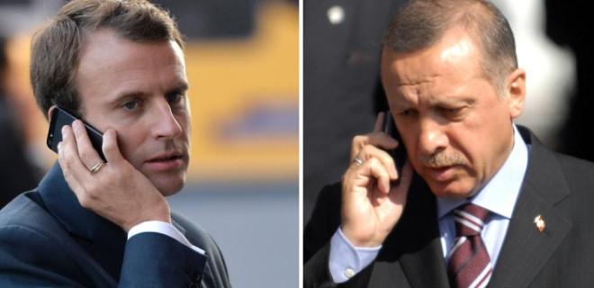Erdoğan, Fransız mevkidaşı Macron ile görüştü