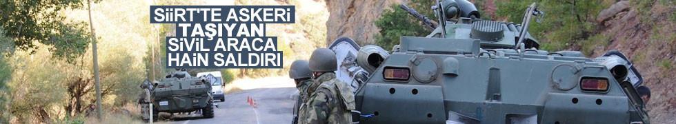 Siirt'te terör saldırısında bir asker şehit oldu