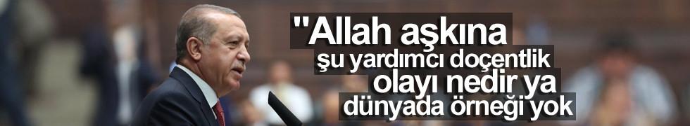 Erdoğan'dan YÖK'e 'yardımcı doçentliği kaldırın' çağrısı