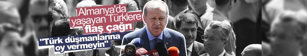Erdoğan'dan Almanya'daki Türk vatandaşlarına çağrı: Onlara ders verin
