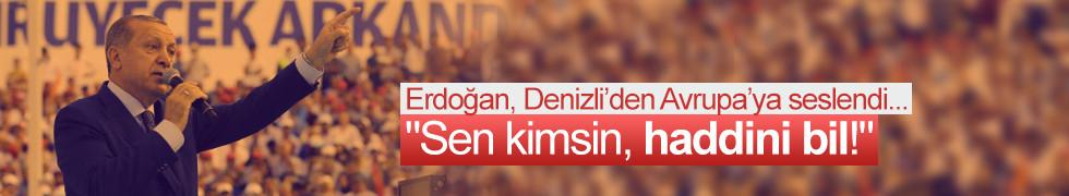 Cumhurbaşkanı Erdoğan Denizli'de partililere seslendi