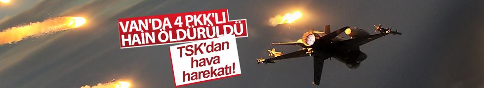 Van Gürpınar'daki hava harekatında 4 terörist öldürüldü