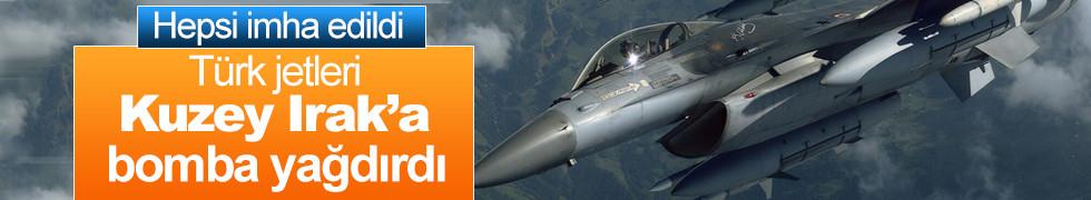 Jetler bomba yağdırdı! Kuzey Irak'a hava harekatı
