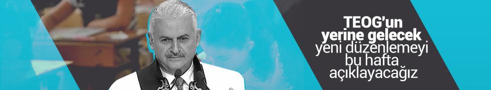 Başbakan Yıldırım, TEOG için tarih verdi