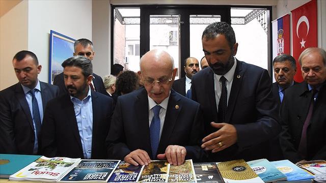 TBMM Başkanı Kahraman Sırbistan'da Yunus Emre Türk Kültür Merkezi'ni gezdi