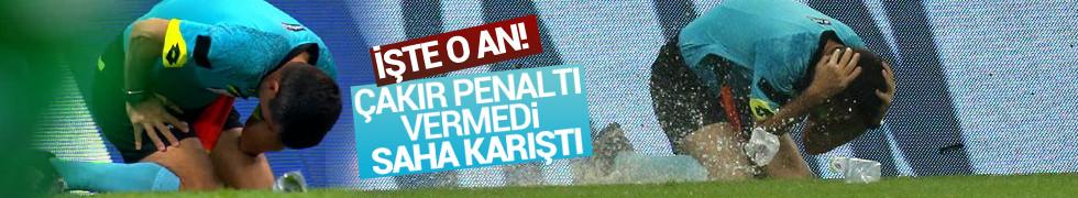 Galatasaray - Fenerbahçe derbisinde olay