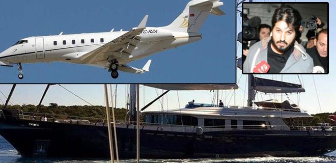 Reza Zarrab'ın uçak ve teknesine de el konuldu