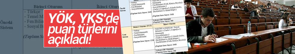 YÖK, YKS'de puan türleri tablosunu açıkladı! İşte YKS puanları 2018