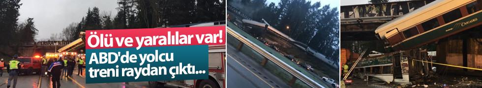 ABD'de yolcu treni raydan çıktı...