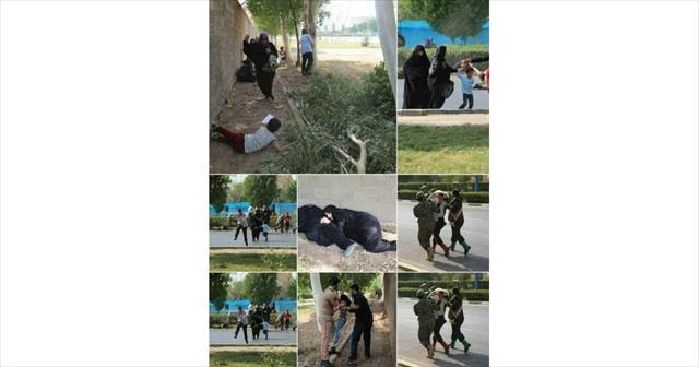 İran'daki terör saldırısı kamerada