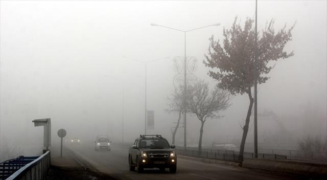 Doğu'da sis ve soğuk hava hakim