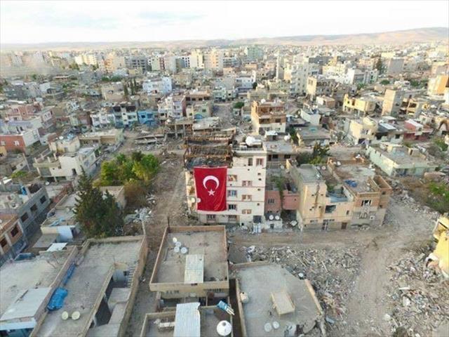 Güvenlik güçleri o bölgeye Türk bayrağı çekti