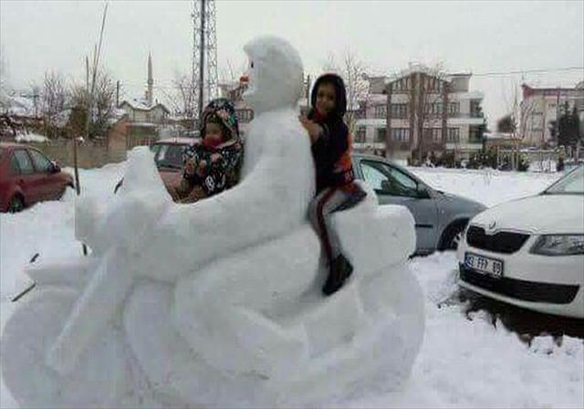 Konya'da kardan manzaralar