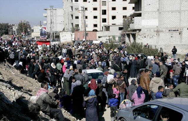 Suriyeliler dönüş için toplandı