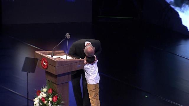 Beştepe'deki törende duygusal anlar