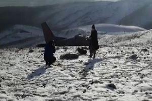 Düşen uçağın ilk görüntüleri!
