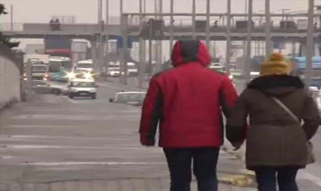İstanbul'da karla karışık yağış