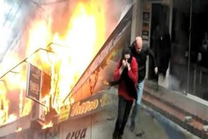 Yangından çığlık çığlığa böyle kaçtılar
