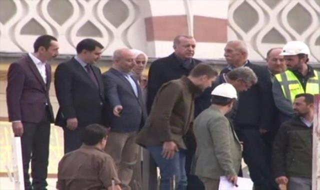 Erdoğan Çamlıca Camii'nde