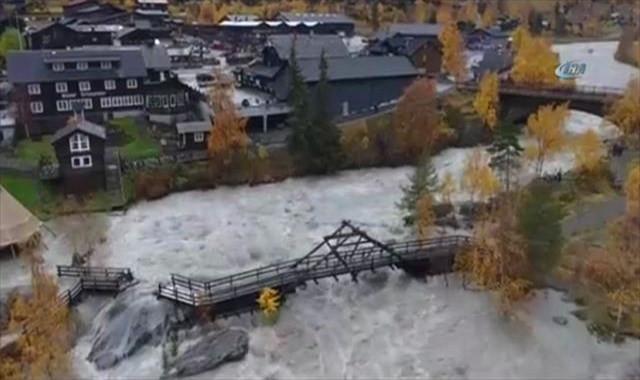 Norveç'te sel felaketi: 150 kişi tahliye edildi