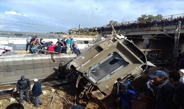 Fas'ta tren kazası: En az 10 ölü