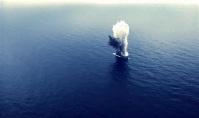 Gemi torpidoyla böyle vuruldu