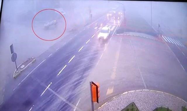 1 kişinin hayatını kaybettiği kaza kamerada