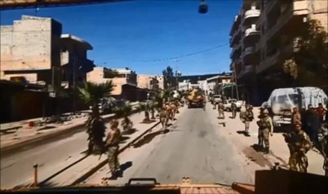 TSK Afrin şehir merkezinden görüntü paylaştı
