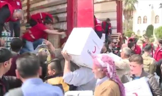 Kızılay ve AFAD yardım için Afrin'de