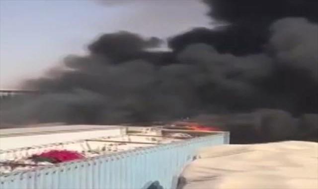 Suudi Arabistan-BAE sınırında korkutan yangın