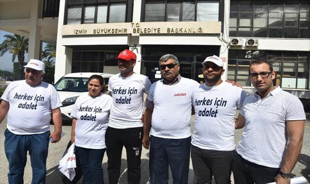 İşten çıkartılan işçilerden 'Herkes için adalet' yürüyüşü